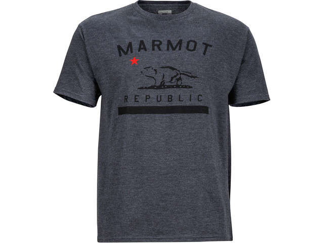 Marmot Republic Bluzka z krótkim rękawem Mężczyźni szary